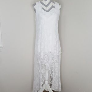 Monroe and Main Lace High Low Dress